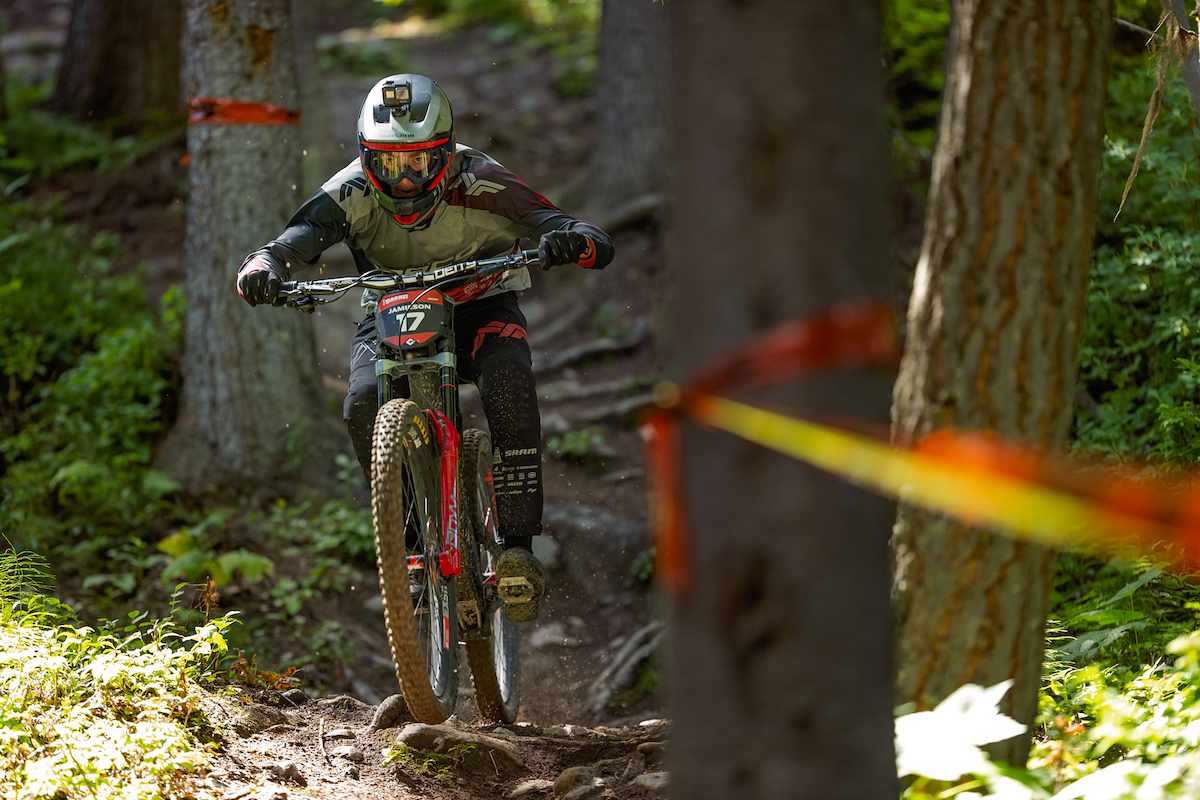 Blueprint athlete, Elliot Jameson racing Crankworx Summer Series 2020