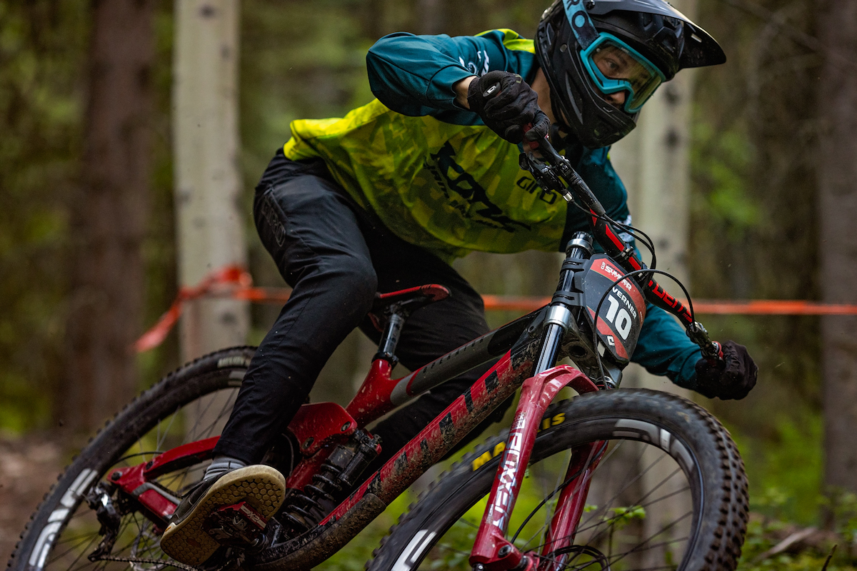 Blueprint athlete, Rhys Verner racing Crankworx Summer Series 2020