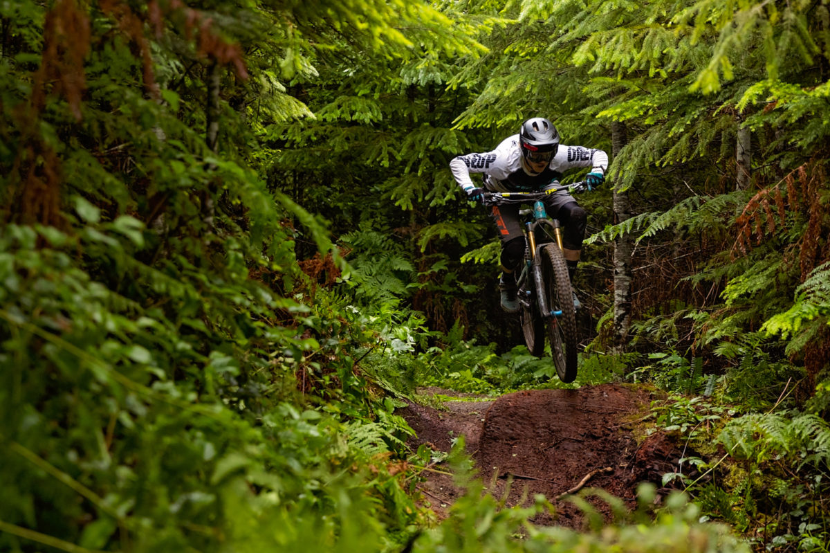 Blueprint athlete, Kasper Woolley fast on his MTB